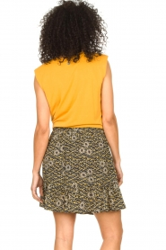 Aaiko |  Top with knotted detail Marcella | orange  | Picture 6