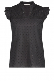 Aaiko |  Cotton top with lurex Penima | black  | Picture 1