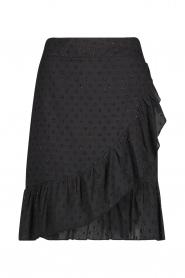 Aaiko |  Cotton skirt with lurex Salienta | black  | Picture 1