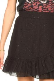 Aaiko |  Cotton skirt with lurex Salienta | black  | Picture 7