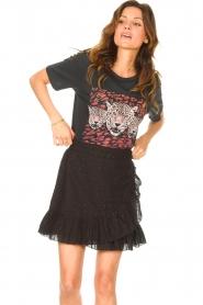Aaiko |  Cotton skirt with lurex Salienta | black  | Picture 2