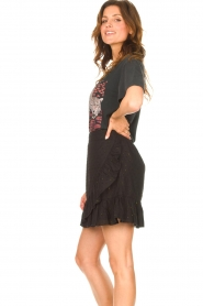 Aaiko |  Cotton skirt with lurex Salienta | black  | Picture 5