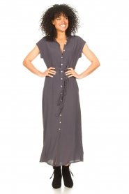 Aaiko |  Mesh maxi dress Valka | grey  | Picture 3