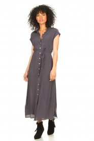 Aaiko |  Mesh maxi dress Valka | grey  | Picture 2