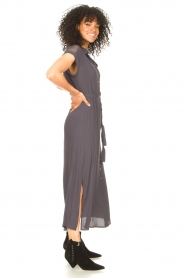 Aaiko |  Mesh maxi dress Valka | grey  | Picture 6