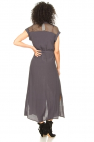 Aaiko |  Mesh maxi dress Valka | grey  | Picture 7