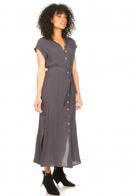 Aaiko |  Mesh maxi dress Valka | grey  | Picture 5