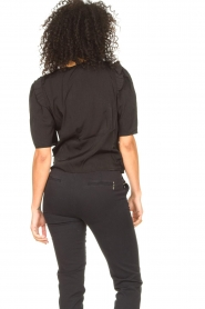 Aaiko |  Top with short puff sleeves Sami | black  | Picture 7