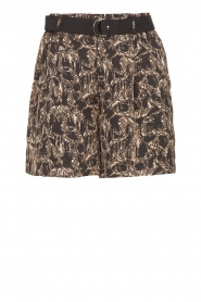 Aaiko |  Short with belt Sarinne | black  | Picture 1