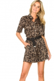 Aaiko |  Short with belt Sarinne | black  | Picture 6