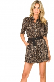 Aaiko |  Short with belt Sarinne | black  | Picture 2