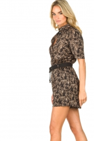 Aaiko |  Blouse with print Tirea | black  | Picture 5