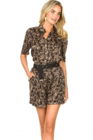 Aaiko |  Blouse with print Tirea | black  | Picture 2