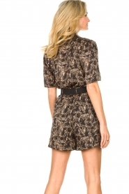 Aaiko |  Blouse with print Tirea | black  | Picture 6