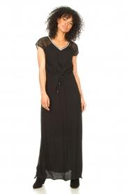 Aaiko |  Midi dress with drawstrings Varissa | black  | Picture 3
