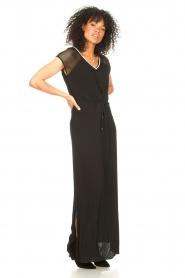 Aaiko |  Midi dress with drawstrings Varissa | black  | Picture 6