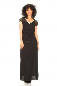 Aaiko |  Midi dress with drawstrings Varissa | black  | Picture 2