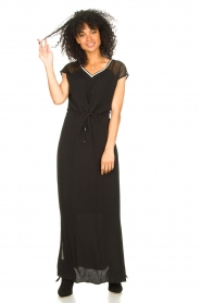 Aaiko |  Midi dress with drawstrings Varissa | black  | Picture 5
