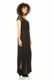 Aaiko |  Midi dress with drawstrings Varissa | black  | Picture 7
