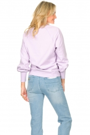 Dante 6 |  Cotton sweater with text print Love Me | lilac  | Picture 8