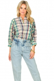 Lolly's Laundry |  Cotton blouse with lurex Ralph | multi  | Picture 2