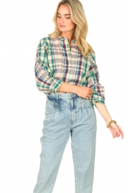 Lolly's Laundry |  Cotton blouse with lurex Ralph | multi  | Picture 4