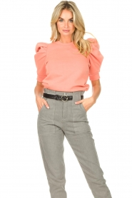 Second Female |  Sweater with puff sleeves Miami | coral  | Picture 2