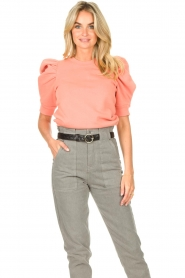 Second Female |  Sweater with puff sleeves Miami | coral  | Picture 7