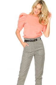 Second Female |  Sweater with puff sleeves Miami | coral  | Picture 5
