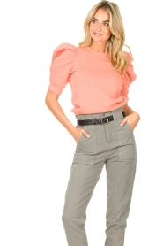 Second Female |  Sweater with puff sleeves Miami | coral  | Picture 4