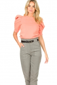 Second Female |  Sweater with puff sleeves Miami | coral  | Picture 6