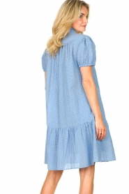 Second Female    Cotton broderie dress with puff sleeves Bilbao   blue    Picture 6