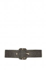 Little Soho |  Wicker belt Becky | black  | Picture 1