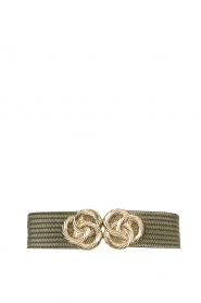 Little Soho |  Belt with golden fastening Lois | green  | Picture 1