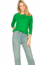 American Vintage |  Basic cotton T-shirt Sonoma | bright green  | Picture 2
