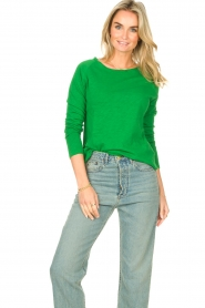 American Vintage |  Basic cotton T-shirt Sonoma | bright green  | Picture 4