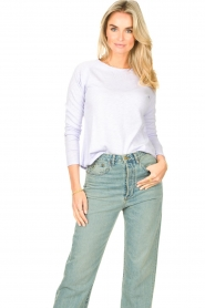 American Vintage |  Basic cotton T-shirt Sonoma | lilac  | Picture 2