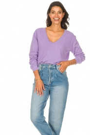 American Vintage |  Lined T-shirt Sonoma | purple  | Picture 2
