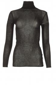 American Vintage |  Cotton top with turtle neck Massachusetts | black  | Picture 1