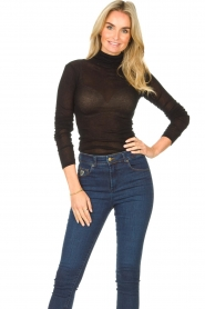 American Vintage |  Cotton top with turtle neck Massachusetts | black  | Picture 2