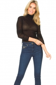 American Vintage |  Cotton top with turtle neck Massachusetts | black  | Picture 3