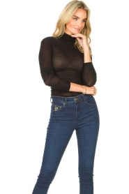 American Vintage |  Cotton top with turtle neck Massachusetts | black  | Picture 4