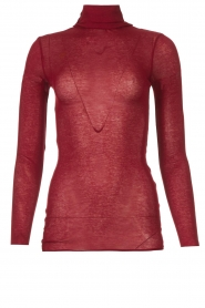 American Vintage |  Cotton top with turtle neck Massachusetts | red  | Picture 1