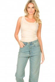 American Vintage |  Sleeveless cotton top Massachusetts | natural  | Picture 2