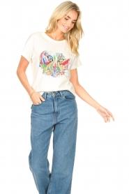 Aaiko |  Aaiko x Alex T-shirt Avery | white  | Picture 4