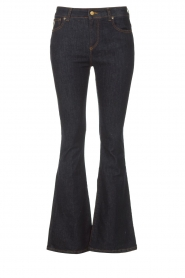 Lois Jeans |  High waisted flared jeans Raval L34 | dark blue  | Picture 1
