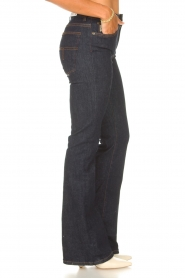 Lois Jeans |  High waisted flared jeans Raval L34 | dark blue  | Picture 6