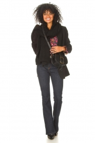 Lois Jeans |  High waisted flared jeans Raval L34 | dark blue  | Picture 2