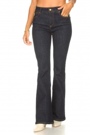 Lois Jeans |  High waisted flared jeans Raval L34 | dark blue  | Picture 5