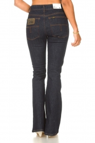 Lois Jeans |  High waisted flared jeans Raval L34 | dark blue  | Picture 7